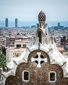 This Gaudi Barcelona Print was taken in Park Guell in Barcelona, Spain. This and many buildings and structures in this park, and city, were created at the cost of the people by Antonio Gaudí. His art