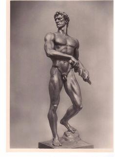 Arno Breker Foto Skulptur Klassiker Fotograf Rohrbach Berlin um 1940 male