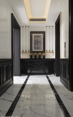 Modern hallway ideas interior paint colors for small hallways Lobby Design, Design Hotel, House Design, Luxury Interior Design, Best Interior, Kelly Hoppen Interiors, Design Scandinavian, Modern Hallway, White Hallway