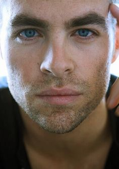 Chris Pine... newest Captain James T Kirk of the starship Enterprise. NOT hard to look at, and has a great sense of humour. Killer combination.