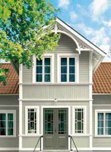 Närbild - huset med valda färger House, Cottage Style, Swedish Cottage, House Inspo, House Exterior, Nordic Home, Old Houses, Home Focus, Craftsman House