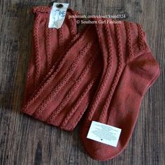 FREE PEOPLE Socks Thigh High Knee Tall Long Boot One Size Fits All. New with tags.  $24 Retail + Tax.  Super soft over the knee thigh high style socks with ribbed detailing. Stretchy and long. Color is a reddish orange.  Polyester, spandex.  Imported.        {Southern Girl Fashion - Closet Policy}   ✔️ Same-Business-Day Shipping (10am CT). ✔️ Price shown is firm unless bundled.  ❌ No trades, thank you! Free People Accessories Hosiery & Socks