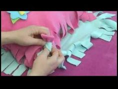 Knotting a no-sew fleece pillow connects two sides of fabric together to form an enclosed pillow. Knot together a no-sew pillow with tips from a crafts teacher in this free crafts video.    Expert: Karen Weisman  Bio: Karen Weisman graduated from Boston University with a degree in Hotel and Food Management. Since then, she has helped a national gro...
