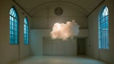 That's not photoshop; that's an actual cloud hovering inside an actual room. Artist Berndnaut Smilde merges art and science to create small man-made clouds that exist — albeit for just a moment — indoors.