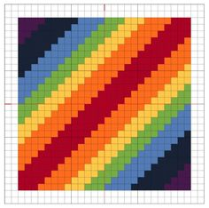 Embroidery Cross Stitches Cross Stitch: Rainbow Block 1 - The Crafty Mummy - The first of a new series: Cross Stitch Rainbow Blocks - with free chart so you can stitch too! Biscornu Cross Stitch, Cross Stitch Love, Cross Stitch Cards, Cross Stitch Flowers, Cross Stitch Designs, Cross Stitching, Cross Stitch Patterns, Learn Embroidery, Cross Stitch Embroidery