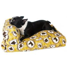 """totally implementing this """"attached bolster to piped box bushion"""" idea into Bentley's suitcase dogbed"""
