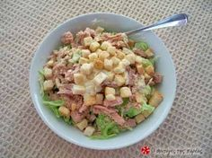 Tuna, cucumber and greens salad ( The Kitchen Food Network, Tasty, Yummy Food, Salad Bar, Greek Recipes, Food Plating, Food Network Recipes, Potato Salad, Salad Recipes