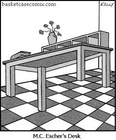MC Escher's Desk Comic - http://www.moillusions.com/mc-eschers-desk-comic/