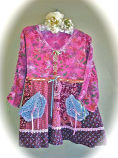 Gypsy Boho Hippie Top Clothing Mori Girl  Anthropologie Rustic  Unique Upcycled Plus Size Tunic
