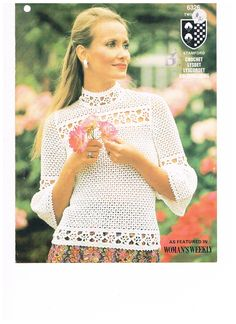 Vintage Pattern Crochet Victorian Blouse by by SparrowFinds