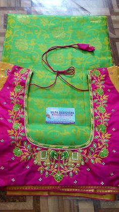 Kids Blouse Designs, Simple Blouse Designs, Stylish Blouse Design, Blouse Neck Designs, Wedding Saree Blouse Designs, Half Saree Designs, Pattu Saree Blouse Designs, Mirror Work Blouse Design, Maggam Work Designs
