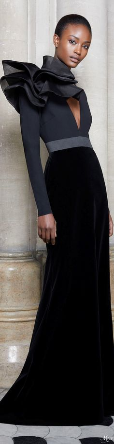 Ashi Studio F-17 RTW: beautiful gown with velvet skirt.