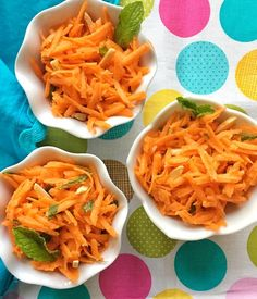 Carrot Salad with mint, honey, and lime. Wow. A sensational side dish for family dinner. As seen in ChopChop Magazine #family #dinner #pickyeaters #vegetables https://www.lizshealthytable.com/2017/05/24/carrot-salad-with-mint-honey-and-lime/ Follow @LizsHealthyTable for more great recipes!