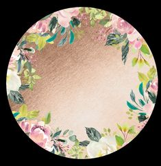 Gold and watercolor floral round background Free Digital Scrapbooking, Floral Watercolor, Tableware, Gold, Dinnerware, Tablewares, Dishes, Place Settings, Yellow