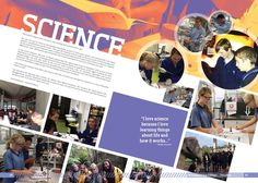 science layout for yearbook | yearbook page - science