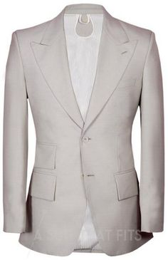 A Première Two Piece suit with a cream lining.