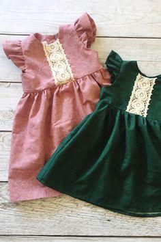 Handmade Baby Girls Holiday Christmas Dresses | ThePathLessRaveled on Etsy