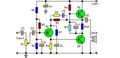 5 Вт класс А аудио усилитель цепь электрическая схема
