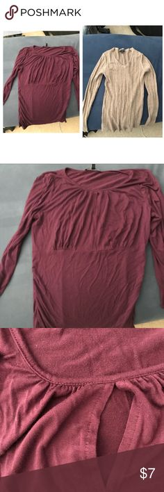 2 Women's Medium Shirts Smoke/pet free. Pre owned. Wrinkled. Cable&Gauge/George Tops