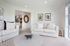 Nothing feels fresher and looks crisper than an interior where white was done in a big way.   #ourstories #clientreferences #livingroom #lounge #whiteinterior #newhome #house #interiordesign #styling #generationhomesnz