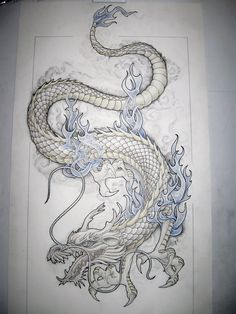 Dragon tattoo design by Tattoo-Design.deviantart.com on @deviantART