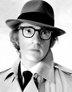 Woody Allen--looks like he's barely shaving when this was taken.