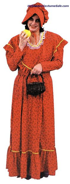 About Costume Shop Pioneer Adult Dress - Pioneer Adult DressEarly American!Costume includes: Long poly/cotton dress in an early American print. Includes matching bonnet style hat and shawl. Costume Shop, Costume Dress, Dress P, Pioneer Costume, Pioneer Dress, Patriotic Costumes, Halloween Costumes, Easy Halloween Decorations, Costume Collection