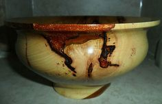 spalted pecan bowl by Tcavanwoodworks for sale on ebay 20% of sale will go to JDRF