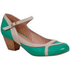 Miz Mooz Women's Felicie Mary Jane Heel ($120) ❤ liked on Polyvore featuring shoes, green, mary-jane shoes, miz mooz mary jane, ankle strap shoes, miz mooz and buckle shoes