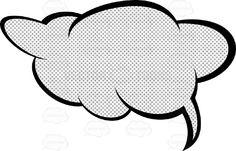 Wispy Top Heavy Talk Cloud With Retro Haltone Dot Print Pattern, Tail In Bottom Right #balloon #blank #bubble #cartoon #comic #conversation #dialogue #dots #halftone #message #newspaper #PDF #print #reprographic #retro #speech #talk #thinking #thought #vectorgraphics #vectors #vectortoons #vectortoons.com #vintage