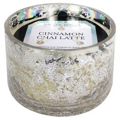 Glass Jar Candle Cinnamon Chai Latte Mercury - The Collection By Chesapeake Bay Candle, Silver/Clear Candles And Candleholders, 3 Wick Candles, Candle Jars, Candle Holders, Cinnamon Candles, Silver Home Accessories, Candles Online, Roomspiration