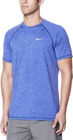 1662f9e93d Nike Men's Heather Short Sleeve Hydro Rash Guard | DICK'S Sporting  GoodsProposition 65 warning iconProposition 65