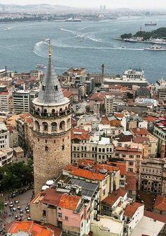 Galata & Istanbul, Turkey & by mustafaseven Istanbul Tours, Istanbul City, Istanbul Travel, Visit Istanbul, Places To Travel, Places To See, Travel Around The World, Around The Worlds, Turkey Places