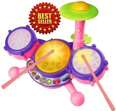 738dd7cfb VTech KidiBeats Pink Drum Set Kids Music Girl Toys Toddlers Baby Gift for  sale online | eBay