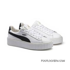 sports shoes fe35e f8754 Mens PUMA BY RIHANNA CREEPER WHITE LEATHER Puma White-Puma Black-Puma White  Super Deals