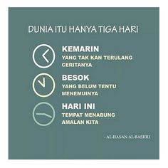 DUNIA HANYA TIGA HARI Reminder Quotes, Self Reminder, Muslim Quotes, Islamic Quotes, Quran Quotes Inspirational, Ramadan Mubarak, Calm Quotes, Mood, Let It Be