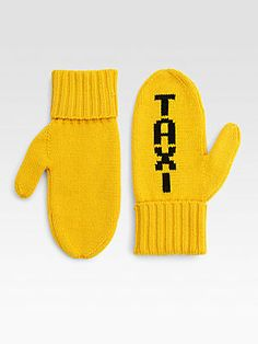 Kate Spade New York Wool Taxi Mittens