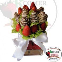 deliciosas fresas con chocolate .. un detalle especial para regalo de aniversario