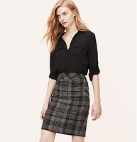 4b46c4f03fe98b Petite Curvy Fit Peppered Tweed Pencil Skirt | Loft. See more. Curvy Fit  Woolly Plaid Pencil Skirt - Especially designed to flatter curves - and  infused ...