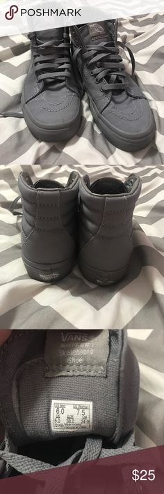 Hightop Grey Vans Size 7.5, worn only once, 9/10 condition. Vans Shoes Sneakers