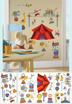 Big Top Circus Wall Stickers - Wall Sticker Outlet