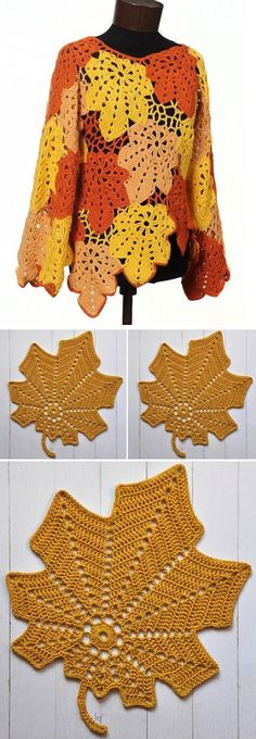 Crochet Maple Leaf Blouse – Design Peak Crochet Blouse Free Pattern Dragon Scale Fingerless Gloves Free Crochet Pattern Up Early Up North Hat Free Crochet Pattern 7 Free Crochet Coffee Cozy Patterns You Need to Try! Poncho Au Crochet, Pull Crochet, Bag Crochet, Crochet Cardigan, Crochet Crafts, Crochet Clothes, Diy Clothes, Crochet Stitches, Crochet Projects