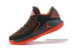 ed85ff2a130 2020 Where To Buy New Air Jordan 32 Low Black Orange Men's Basketball Shoes