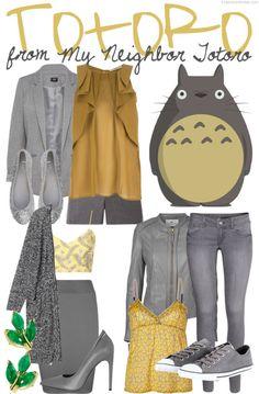 Three ways to casually cosplay Totoro from the Studio Ghibli anime My Neighbor Totoro!