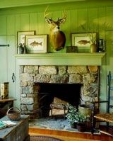 The cozy fireplace surround design pics shown here feature country casual wood mantels. Warm and inviting, they beckon us to gather round and relax with a good book, good conversation, and good times! Wood Fireplace Surrounds, Stone Fireplace Designs, Stone Mantel, Wood Mantels, River Rock Fireplaces, Outdoor Stone Fireplaces, Cottage Fireplace, Cozy Fireplace, Fireplace Pictures