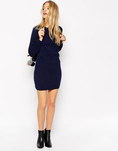 Image 4 of ASOS Sweater Dress With Elasticated Waistband