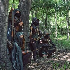 Woodsmen on guard | The Gilt-Edged battle formation