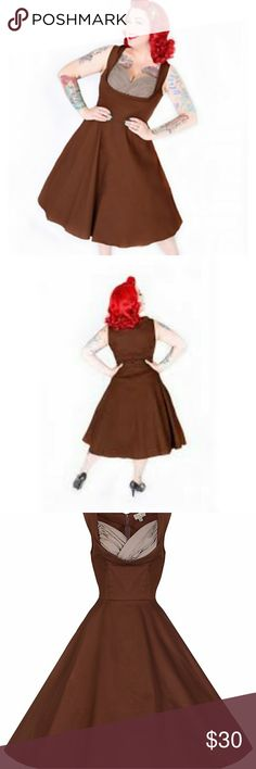Brown Ophelia Dress Like new condition - only worn once   Pinup - Vintage - Retro - Rockabilly Lindy Bop Dresses