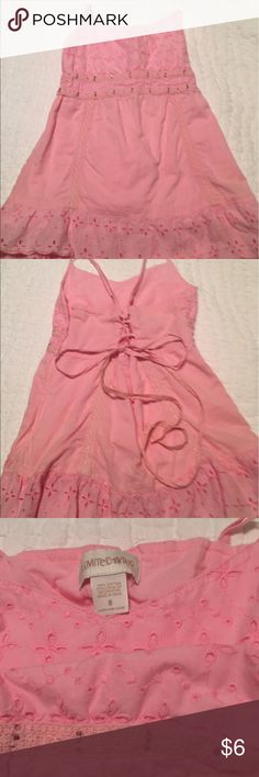 Limited Too tank top with rhinestones. Size 8. Excellent condition. Limited Too Shirts & Tops Tank Tops
