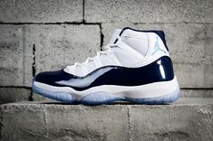 3dc36c894ae Nike Air Jordan 11 Midnight Navy Win Like White 378037-123 Cheap Jordans  For Sale